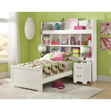 Smart Solutions Twin Bookcase Bed with Two Nightstands