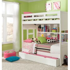 Smart Solutions Twin Bunk Bed and Bookcase