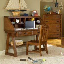 Heartland Computer Desk and Hutch Set