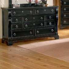 Heirloom 10 Drawer Triple Dresser