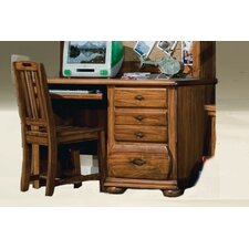 Timberline Computer Desk and Hutch