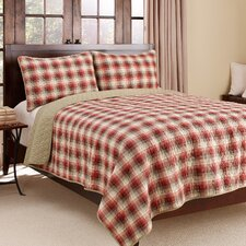 Ravena Plaid Quilt Set