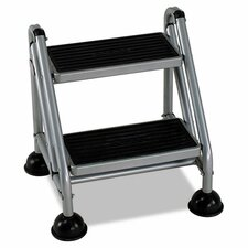 Rolling Commercial 2 Step Stool