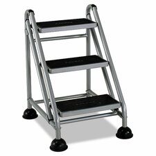 Rolling Commercial 3 Step Stool