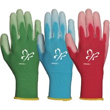 Women's Assorted Reinforced Fingertips Polyurethane Palm Gloves