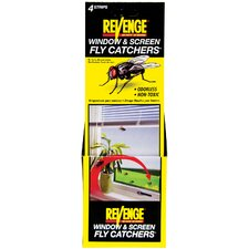 Revenge Window and Screen Fly Catcher (4 Pack)