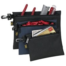 3 Piece Multipurpose Clip On Zippered Bags Set