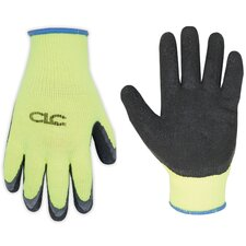Hi-Viz Cold Weather Latex Dip Gripper Gloves