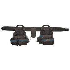 <strong>Custom Leathercraft</strong> 17 Pocket 4 Piece Framers Ballistic Combo Tool Belt