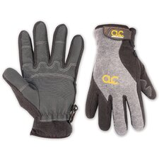 Fleece Lined Gloves with Reinforced PVC Palm