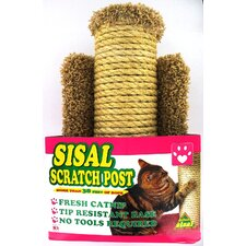 "15.5"" H x 12"" W x 12"" D Sisal Scratch Post For Cats"