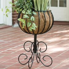 Blacksmith Round Pedestal Urn Planter