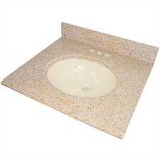 Granite Double Bowl Vanity Top with Sink