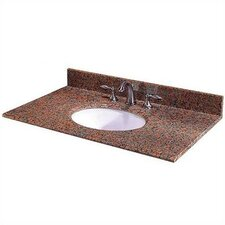 "Terra Cotta Granite 37"" Vanity Top with Sink"