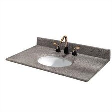 "Napoli 37"" Granite Vanity Top with Sink"