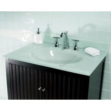 "25"" Glass Vanity Top with Sink"