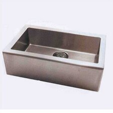 "Apron 33"" x 20"" Single Extra Deep Bowl Kitchen Sink"