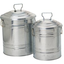 Galvanized Containers (Set of 2)