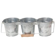 Triple Round Pot Planter