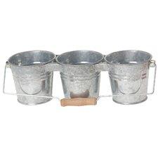Triple Round Pot Planter