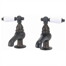 Bathroom Faucet Set with Metal Porcelain Handles