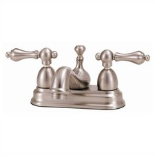<strong>Elizabethan Classics</strong> Centerset Bathroom Faucet with Double Metal Lever Handles