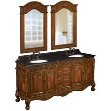 "73"" Double Basin Sink Vanity Set"