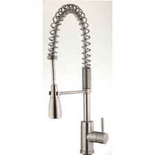 <strong>Belle Foret</strong> Single Handle Single Hole Pre-Rinse Bar Faucet with Metal Lever Handle