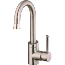 <strong>Belle Foret</strong> Single Handle Single Hole Spout Reach Kitchen Faucet with Metal Lever Handle