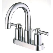 Ulm Centerset Bathroom Sink Faucet with Double Lever Handles
