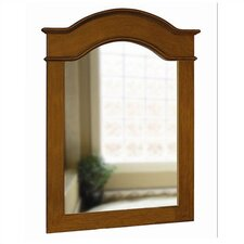 "Single 40"" Portrait Mirror in Aged Walnut"