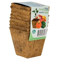Fiber Grow Square Plantable Pot Planter