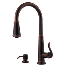 Ashfield One Handle Widespread Kitchen Faucet with Pull-Down and Matching Soap Dispenser
