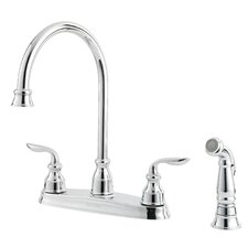 Avalon Double Handle Kitchen Faucet with Sidespray