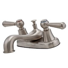 Pfirst Series Double Handle Centerset Bathroom Faucet