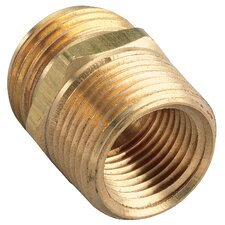 "0.75"" x 0.75"" x 0.5"" Brass Double Hose Fitting"