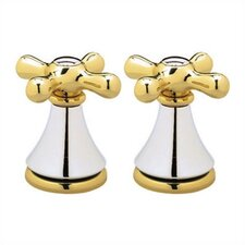 Iris Metal Cross Handle (Set of 2)
