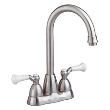 Standard Two Handle Centerset Bar Faucet with Pull-Out Spray