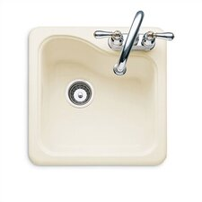 "Silhouette 18"" x 18"" Island Kitchen Sink withTile Edge"