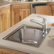 "Culinaire 22"" x 18"" Self-Rimming Top Mount Island Sink"