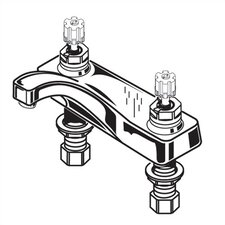 Heritage Centerset Bathroom Faucet with Double Cross Handles