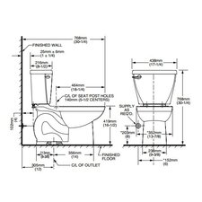 Cadet 3 Flowise Right Height Elongated Toilet Bowl Only