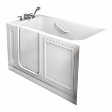 """Acrylic 51"""" x 26"""" Walk-In Tub with Air Spa and Drain"""