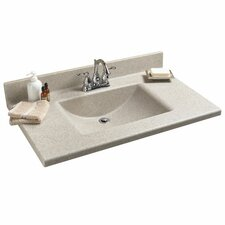 "Antiquity 37"" Silkstone Rectangular Bowl Vanity Top"