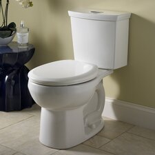 H2Option Siphonic Dual Flush 1.0 GPF / 1.6 GPF Round Front 2 Piece Toilet