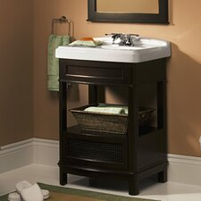 "Generations 24.25"" Washstand and Pedestal Top Sink Vanity Set"