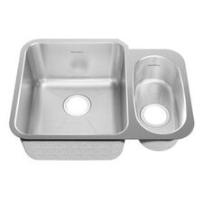 "24.88"" x 18.75"" Undermount Double Combination Bowl Kitchen Sink"