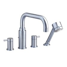 <strong>American Standard</strong> Serin Double Handle Deck Mount Roman Tub Faucet with Handshower