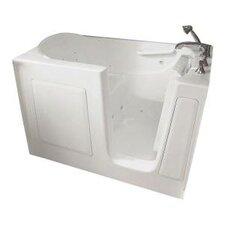 "59.5"" x 30"" Drain Walk In Whirlpool  Tub with Quick Drain"