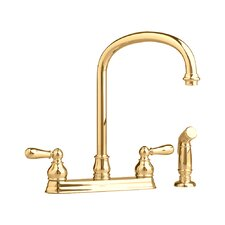 <strong>American Standard</strong> Hampton Two Handle Centerset kitchenFaucet with Side Spray